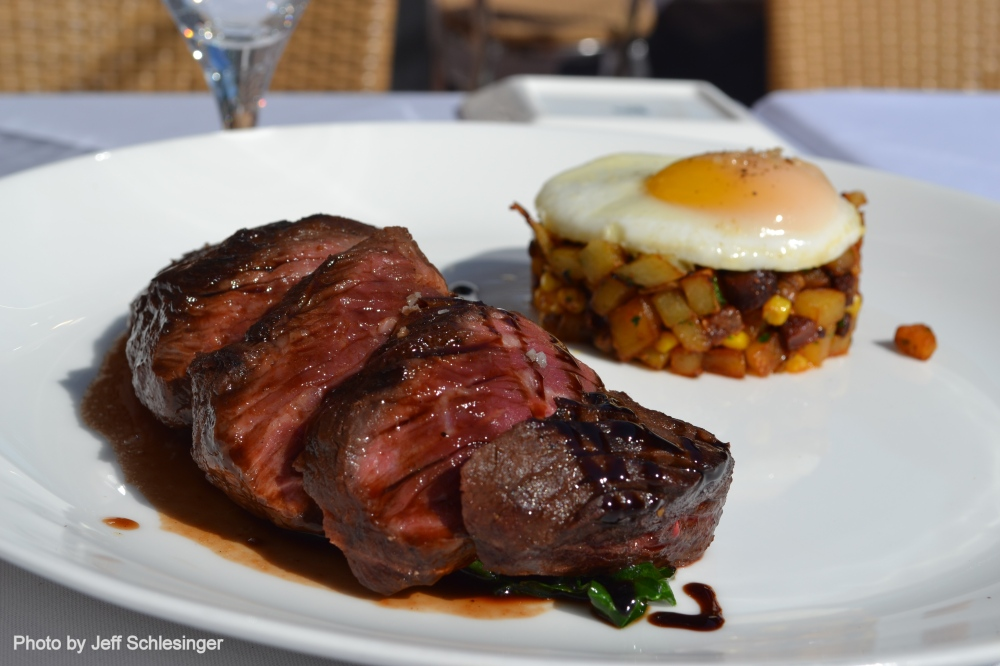 Hangar Steak with Potato Hash and Soft Egg