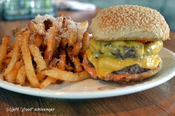 Uncorked burger